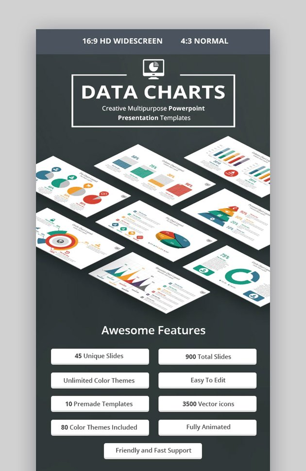 Charts PowerPoint presentation template