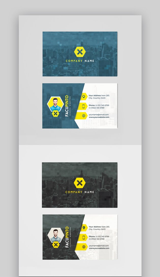 Personalized business card templates