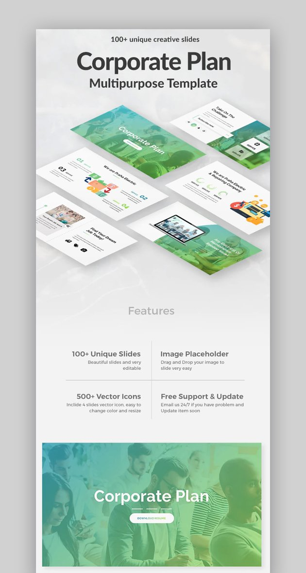 Business Case PPT template