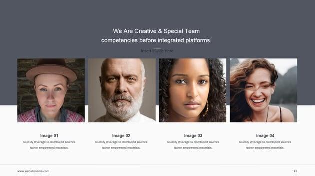 Corporate Team PowerPoint-Foliendesign