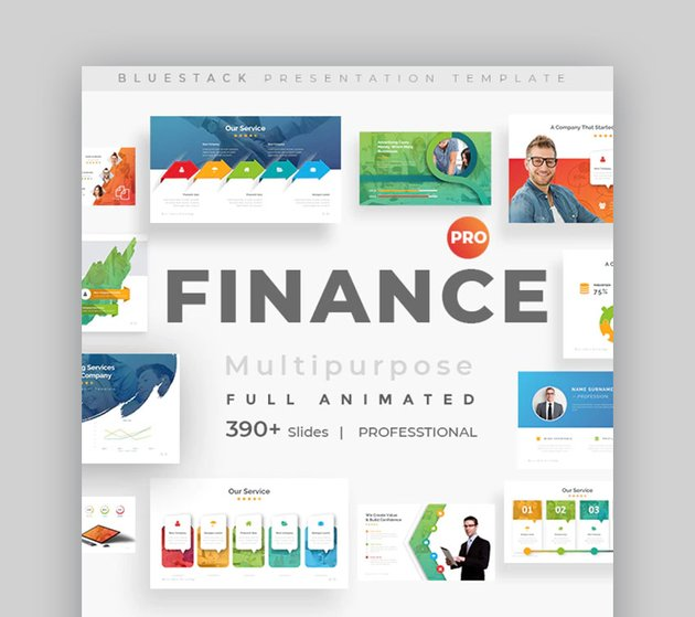 animated Finance PowerPoint presentation template