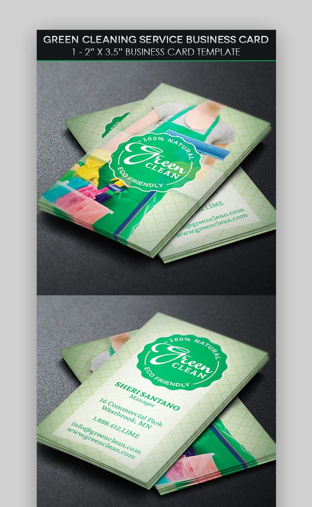 House cleaning business card ideas