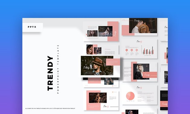 Trendy cool and creative PowerPoint template