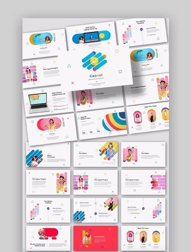 Capsul cool creative PowerPoint template