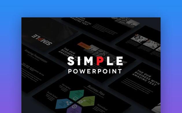 Simple PowerPoint Templates on Envato Elements