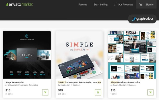 GraphicRiver Simple PowerPoint templates