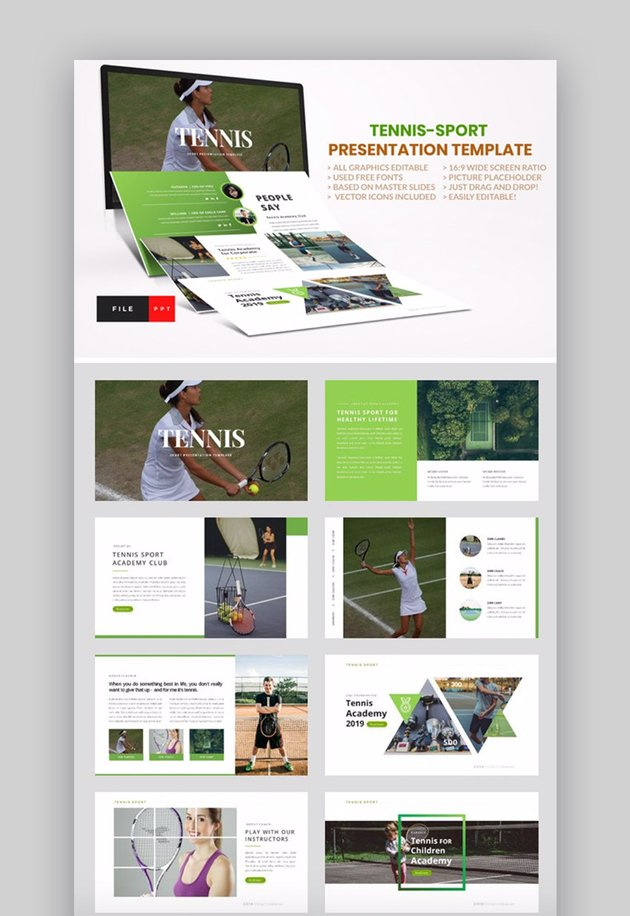 PowerPoint presentation about sports