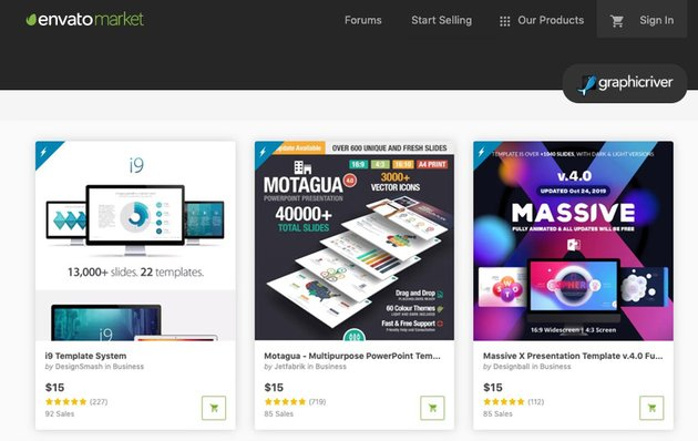 GraphicRiver PowerPoint Slide Templates