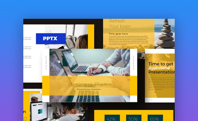 Business plan templates for PowerPoint
