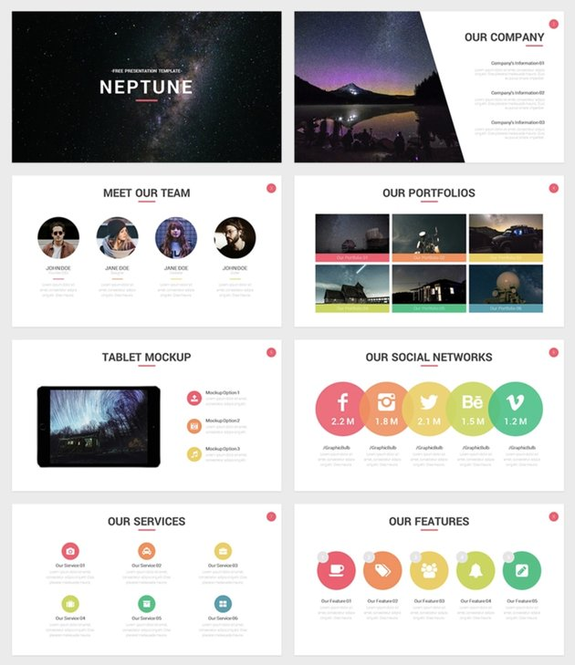 Google Slides themes for space and science