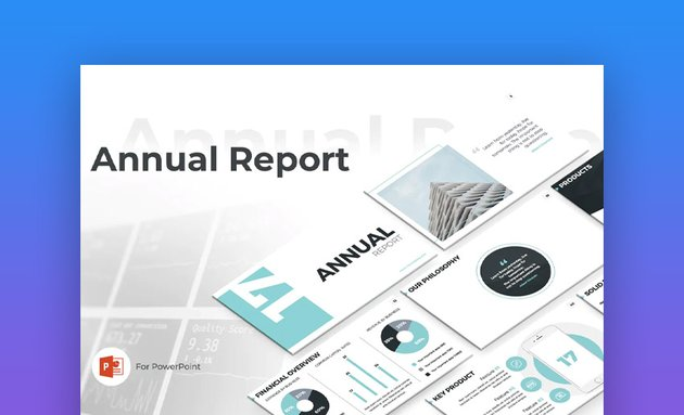 Annual report PowerPoint brochure