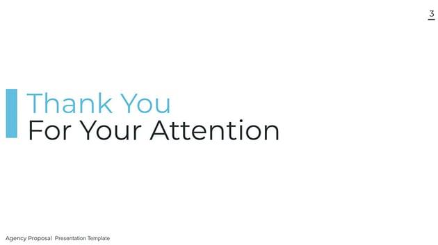 Agency thank you slide for presentation