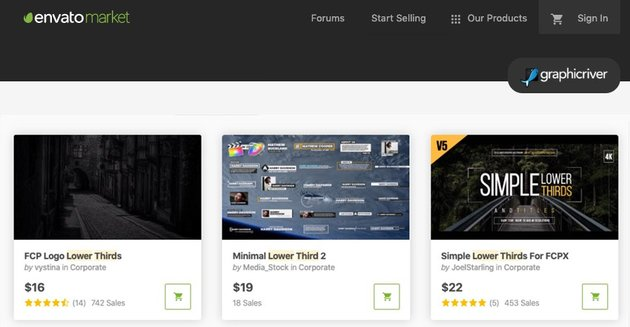 Envato Market lower thirds for Motion