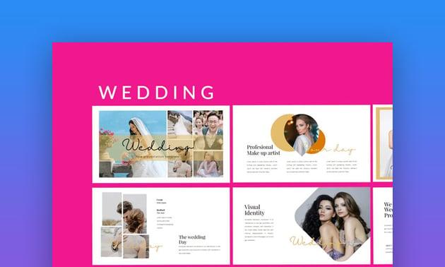 Wedding Lookbook PowerPoint Picture Template