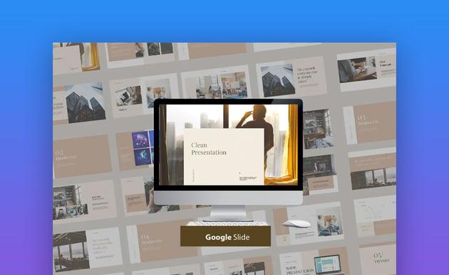 Clean Modern presentation for Google Slides