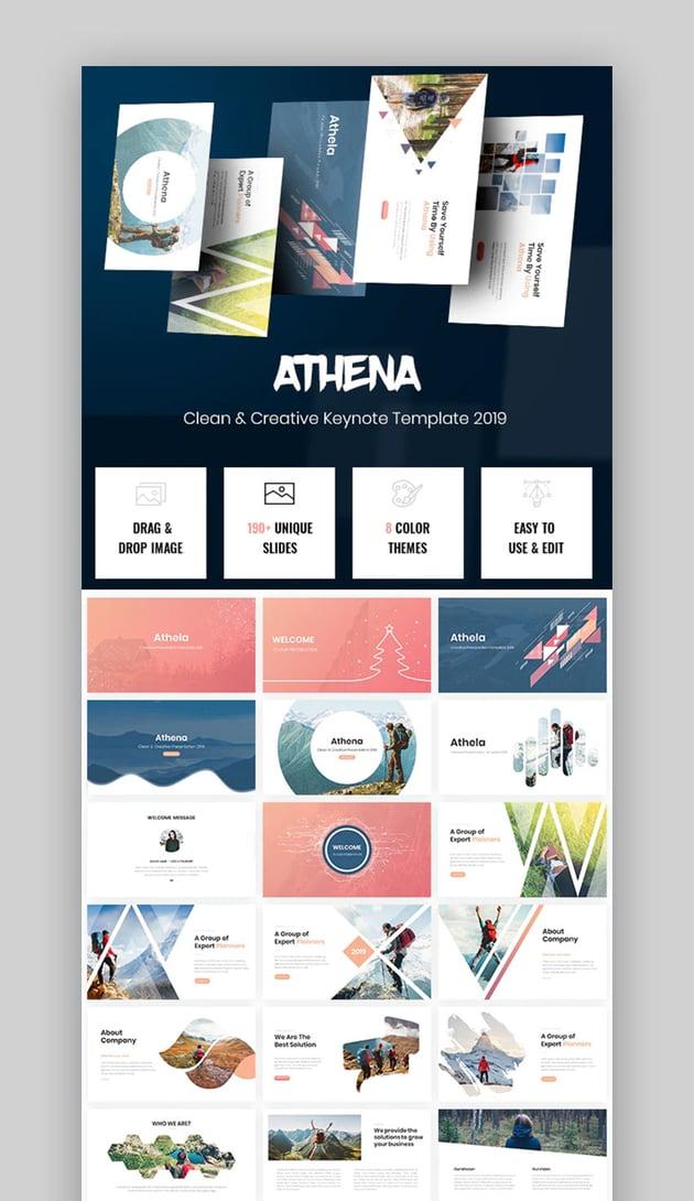 Athena Creative Keynote template