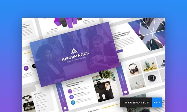 Informatics Company Keynote template