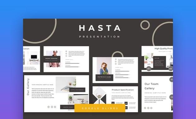Hasta Custom Google Slides Theme