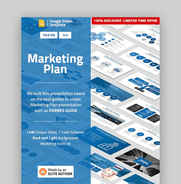 Marketing Plan Custom Google Slides theme