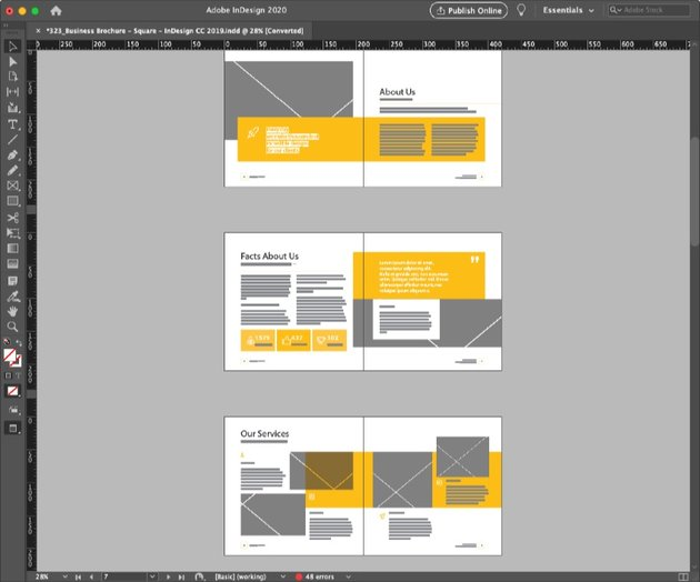 Product Brochure Template Layouts