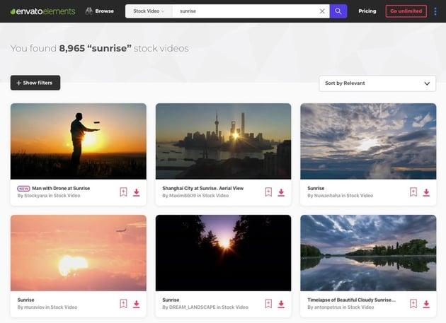 Sunrise video stock footage