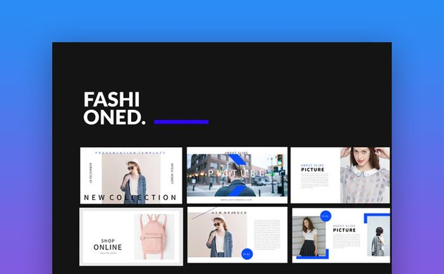 Fashioned Stylist PowerPoint template