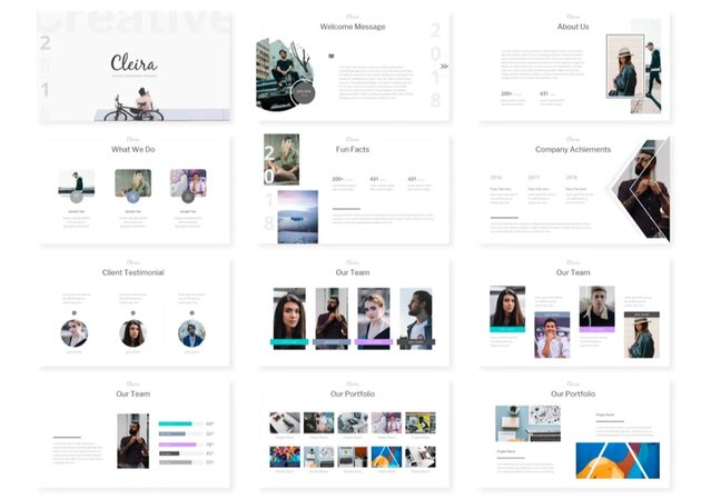 Cleira awesome PPT template