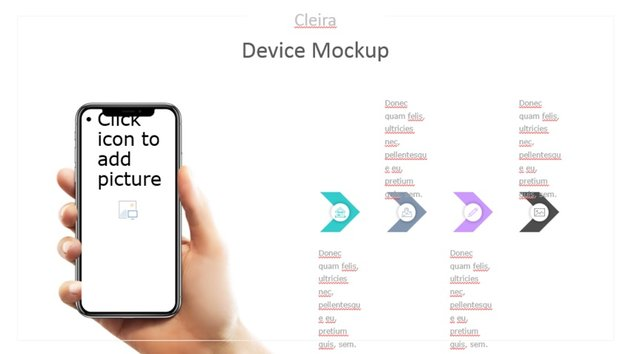 Device mockup awesome slide