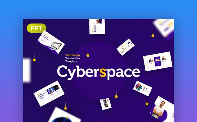 Cyberspace PowerPoint about Technology
