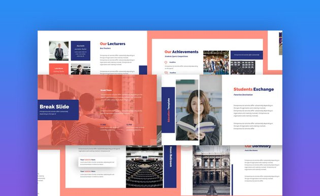 Academia Google Slides template for students