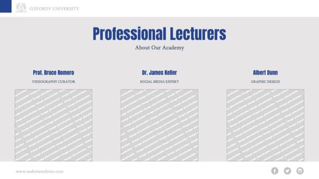 Faculty Slide in Google Slides Template