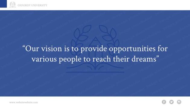 Mission statement slide