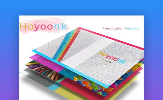 Hoyoonk Colorful Google Slides presentation