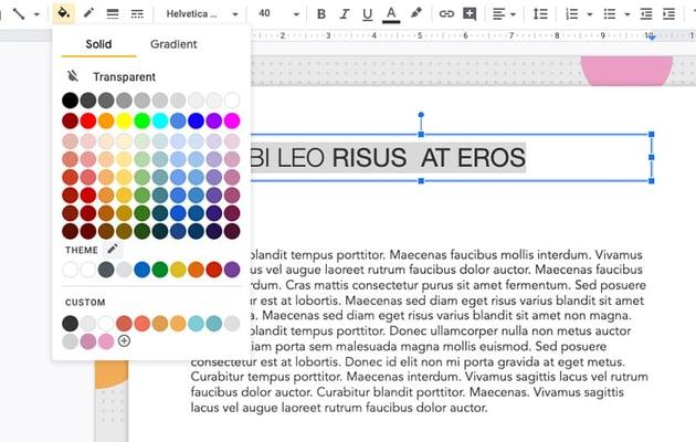 Choose replacement color Google Slides