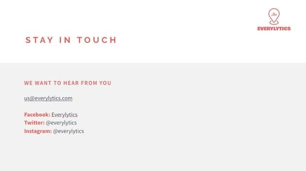 Bleiben Sie in Kontakt Fertiges Keynote-Design