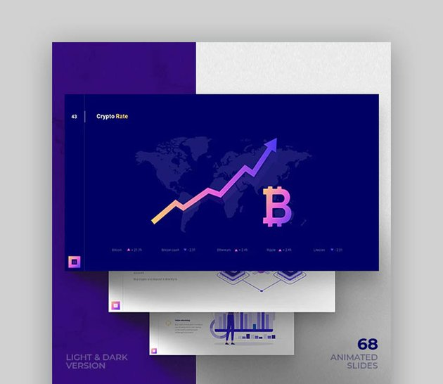 Crypto infographic template PowerPoint