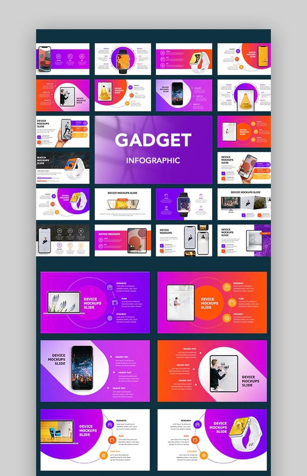 Gadget Infographic Template PowerPointjpg