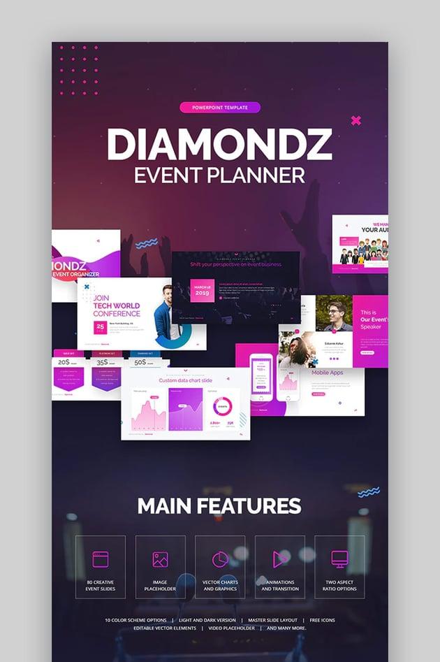 Diamondz Event PowerPoint Template