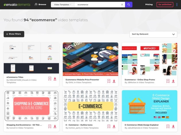 Marketing with eCommerce templates