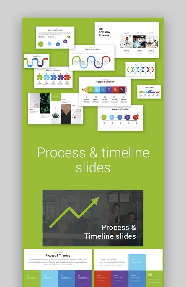 Create timeline in Keynote with template