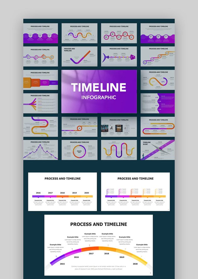Keynote timeline infographic template