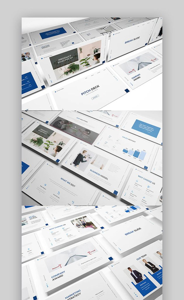 Pitch deck with Keynote timeline template