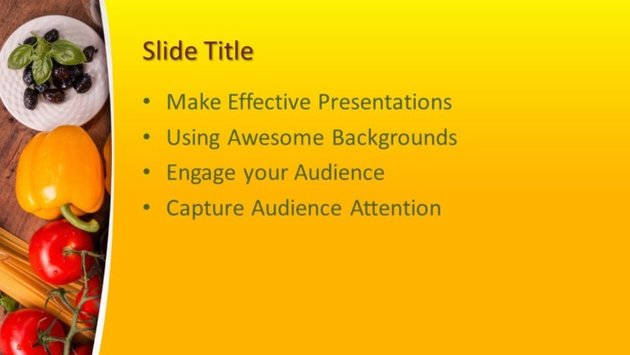 Food and beverage PowerPoint presentation