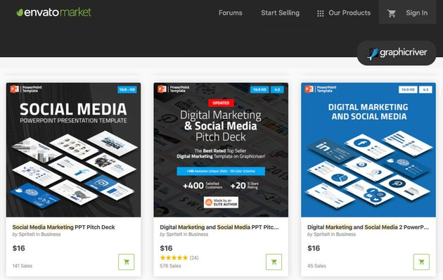 GraphicRiver social media PowerPoint template