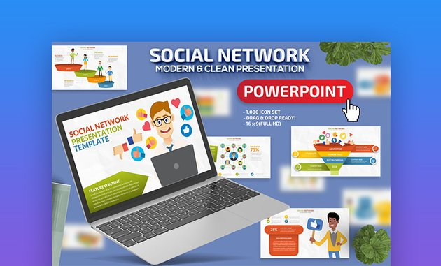 Social network PowerPoint presentation template