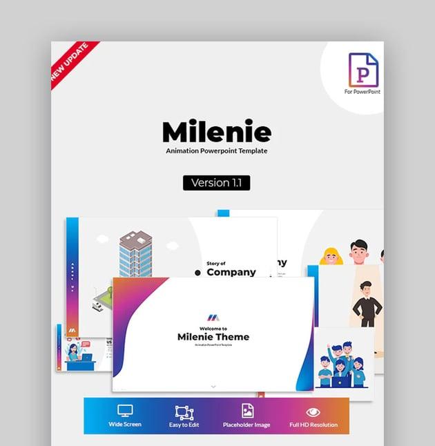 Milenie - Plantilla PowerPoint de Animacion