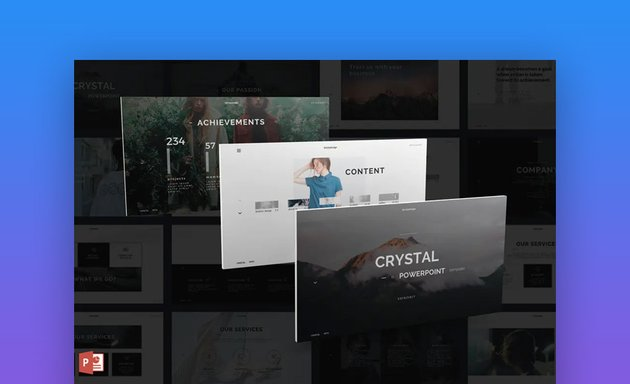 Crystal animated PPT