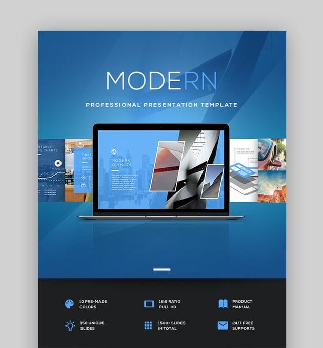 Modern minimalist PowerPoint template
