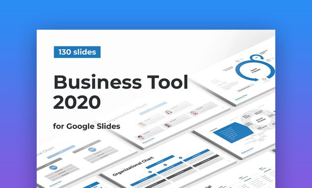 Business calendar for Google Slides