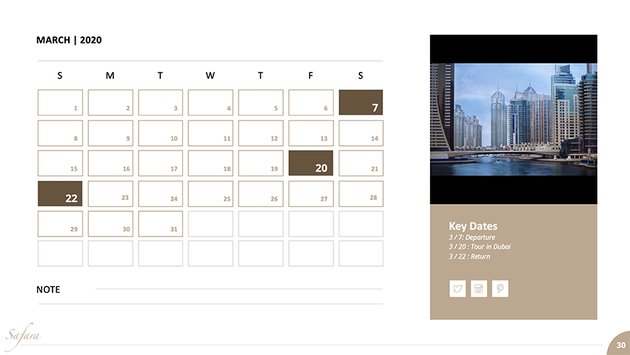 Google calendar presentation